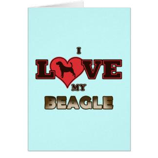 I Love My Beagle Card