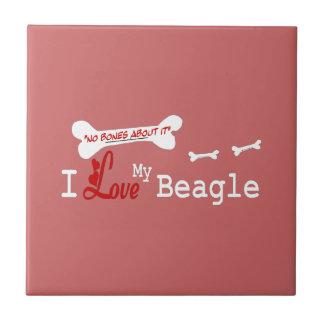 I Love My Beagle Ceramic Tile