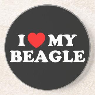 I Love my Beagle Coaster