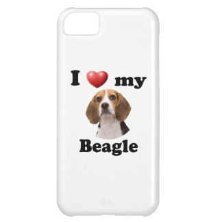 I Love My Beagle Cover For iPhone 5C