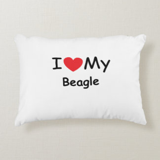 I love my Beagle dog Accent Pillow