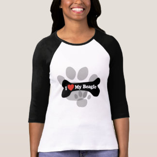 I Love My Beagle - Dog Bone T-Shirt