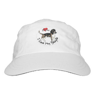 I Love My Beagle Dog Headsweats Hat