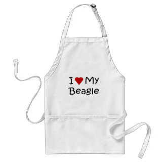 I Love My Beagle Dog Lover Gifts and Apparel Adult Apron