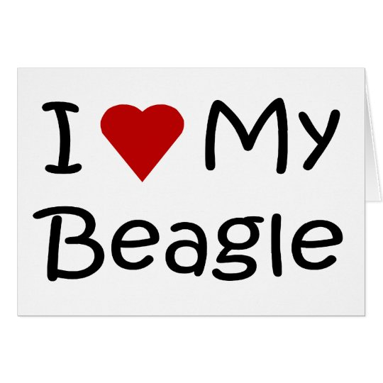 I Love My Beagle Dog Lover Gifts and Apparel Card
