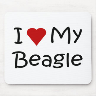 I Love My Beagle Dog Lover Gifts and Apparel Mouse Pad