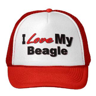I Love My Beagle Dog Merchandise Trucker Hat