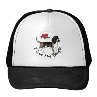 I Love My Beagle Dog Trucker Hat
