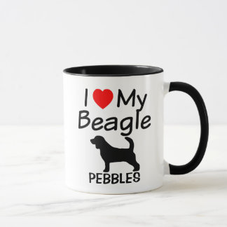 I Love My Beagle Dogs Mug