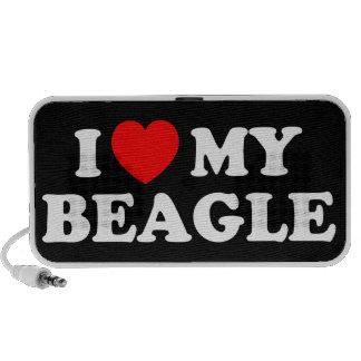 I Love my Beagle Doodle iPod Speakers