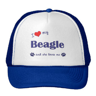 I Love My Beagle (Female Dog) Trucker Hat