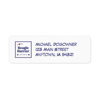 I Love My Beagle Harrier (Male Dog) Label