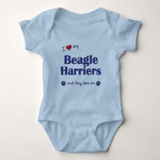 I Love My Beagle Harriers (Multiple Dogs) Baby Bodysuit