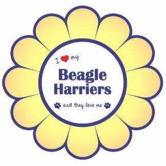 I Love My Beagle Harriers (Multiple Dogs) Statuette