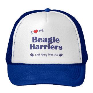 I Love My Beagle Harriers (Multiple Dogs) Trucker Hat