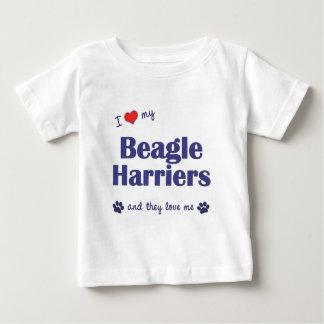 I Love My Beagle Harriers (Multiple Dogs) Tee Shirts