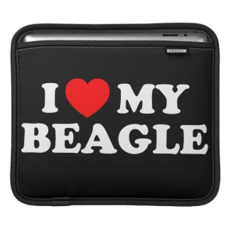 I Love my Beagle iPad & Laptop Sleeve