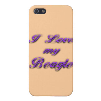 I Love my Beagle iPhone SE/5/5s Cover