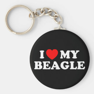 I Love my Beagle Keychain