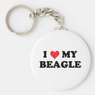I Love My beagle Key Chain