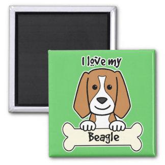I Love My Beagle Magnet