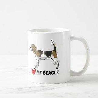 I Love My Beagle Coffee Mugs