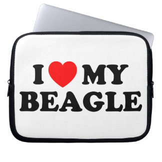 I Love my Beagle Neoprene Laptop Sleeve