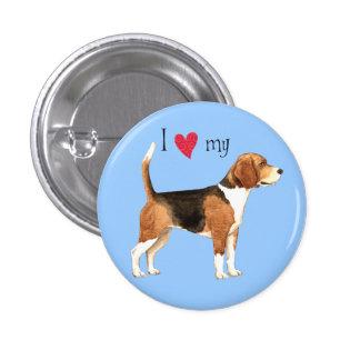 I Love my Beagle Pinback Button