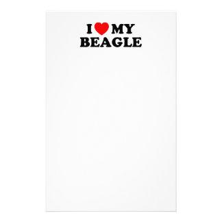 I Love my Beagle Stationery