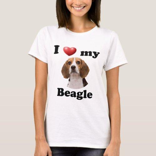 I Love My Beagle T_Shirt