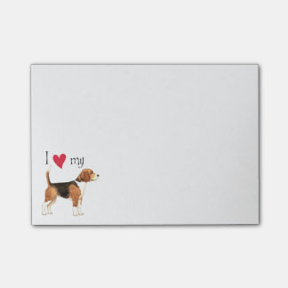 I Love my Beagle Post-it® Notes