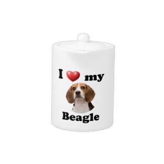 I Love My Beagle Teapot