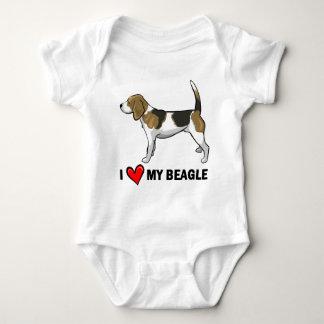 I Love My Beagle Tee Shirt