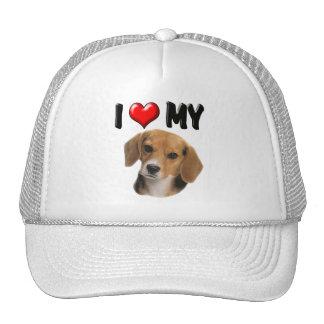 I Love My Beagle Trucker Hat