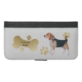 I Love my Beagle w/bone-n-paws iPhone 6/6s Plus Wallet Case