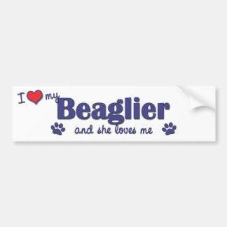 I Love My Beaglier (Female Dog) Bumper Sticker