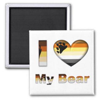 I Love My Bear / Cub 2 Inch Square Magnet
