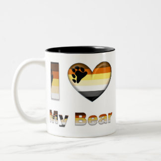 I Love My Bear / Cub Two-Tone Coffee Mug