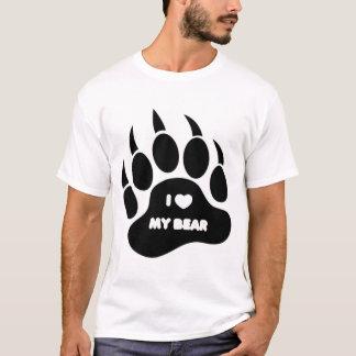 I love My Bear In Black Paw - Shirt