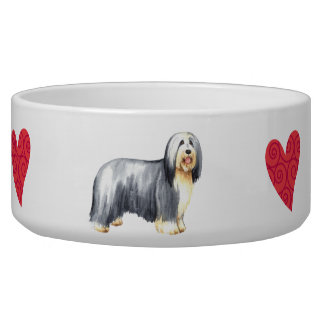 I Love my Bearded Collie Bowl
