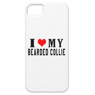 I Love My Bearded Collie iPhone 5 Case