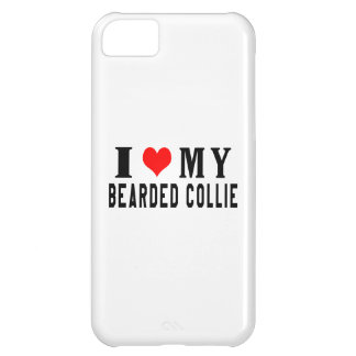 I Love My Bearded Collie Case For iPhone 5C