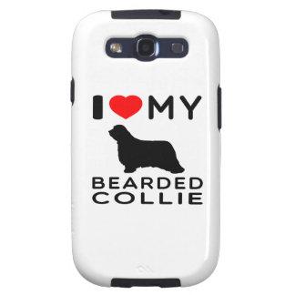 I Love My Bearded Collie Galaxy SIII Cases