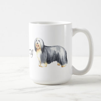 I Love my Bearded Collie Classic White Coffee Mug