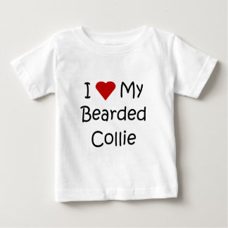 I Love My Bearded Collie Dog Lover Gifts T Shirt