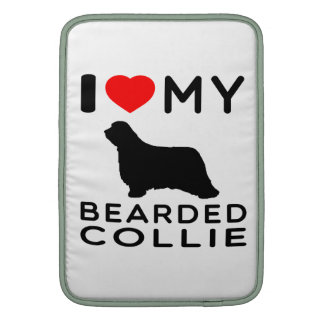 I Love My Bearded Collie Sleeves For MacBook Air