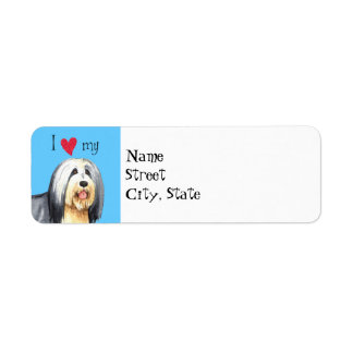 I Love my Bearded Collie Label
