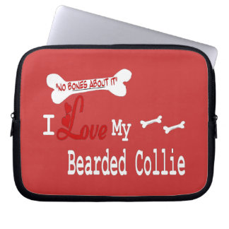 I Love My Bearded Collie Laptop Computer Sleeves