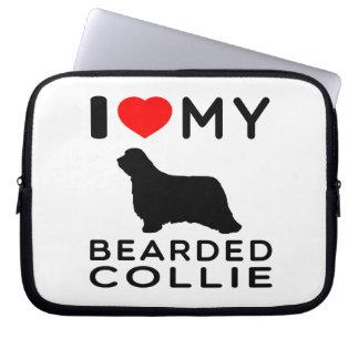 I Love My Bearded Collie Computer Sleeves