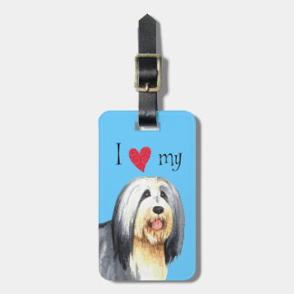 I Love my Bearded Collie Luggage Tag
